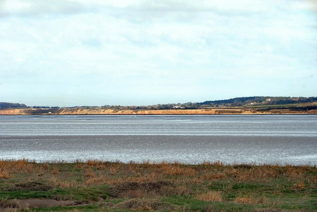 Thurstaston Cliffs viewed from Flint