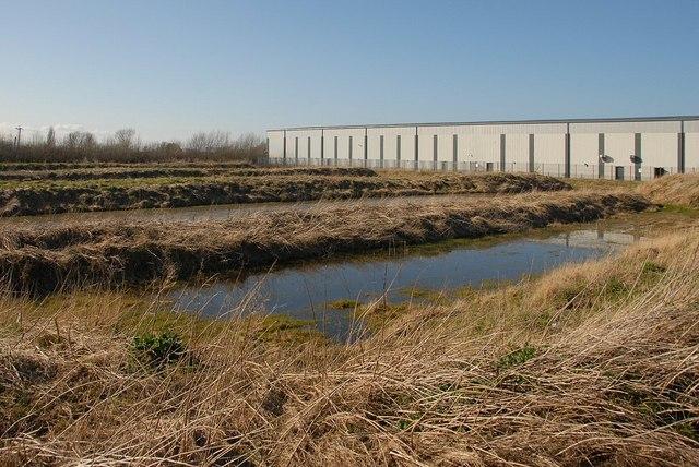 Pools on industrial estate