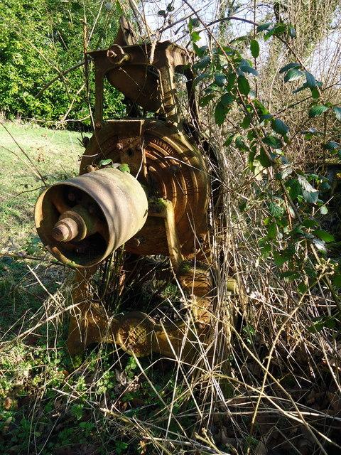Old grinder near Meline church