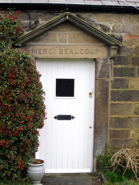Doorway, 'Merci Beaucoup' Cottage, Houghton