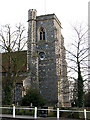 TQ2565 : All Saints church, Benhilton: tower by Stephen Craven