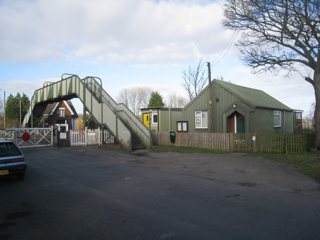 Railway Footbridge and Melton Ross and New Barnetby Village Hall