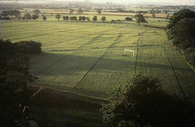 From the top of the tower of St Michael and All Angels, Kingsnorth in 1977