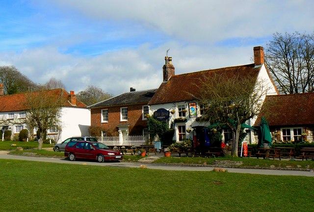 Eastern side of The Green, Aldbourne, Marlborough