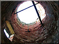 TG4403 : Reedham Marsh North Mill - view up the tower by Evelyn Simak