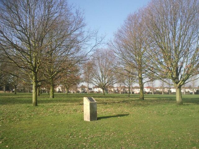 Memorial trees in Danson Park