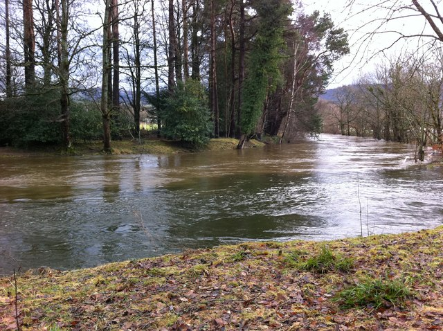 River Greta (brown) meets River Derwent