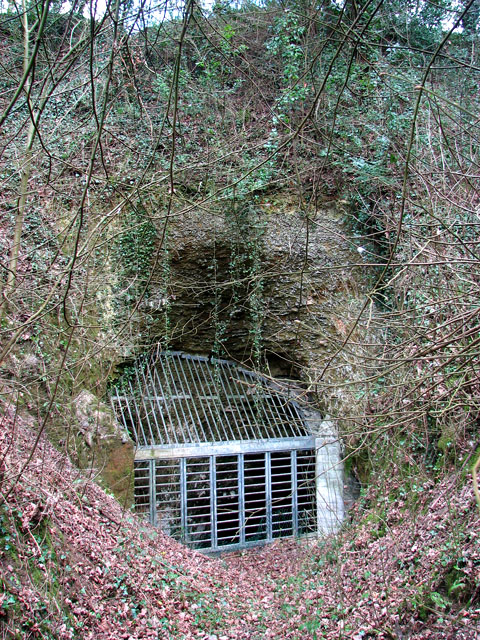 Entrance to the old chalk mine in Eaton, Norwich
