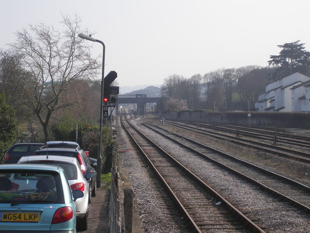 Paignton Carriage Sidings looking to Goodrington Station
