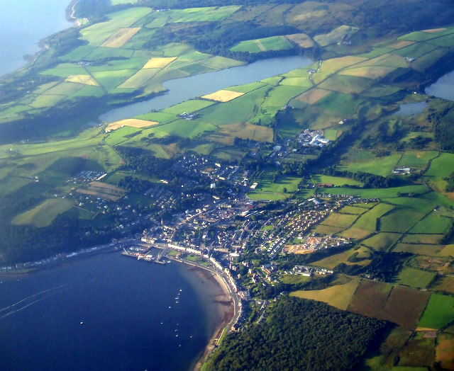 Rothesay and Loch Ascog from the air