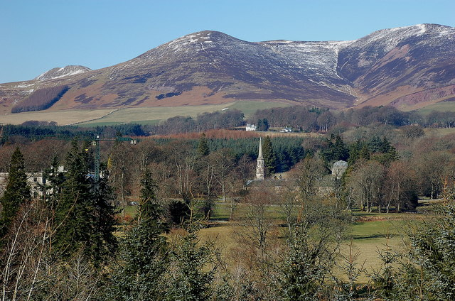 Penicuik House from South Bank Wood
