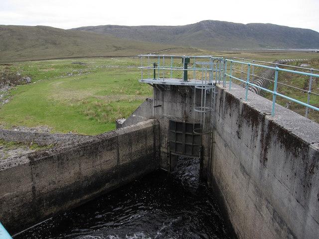 Water diverted to Loch Fannich