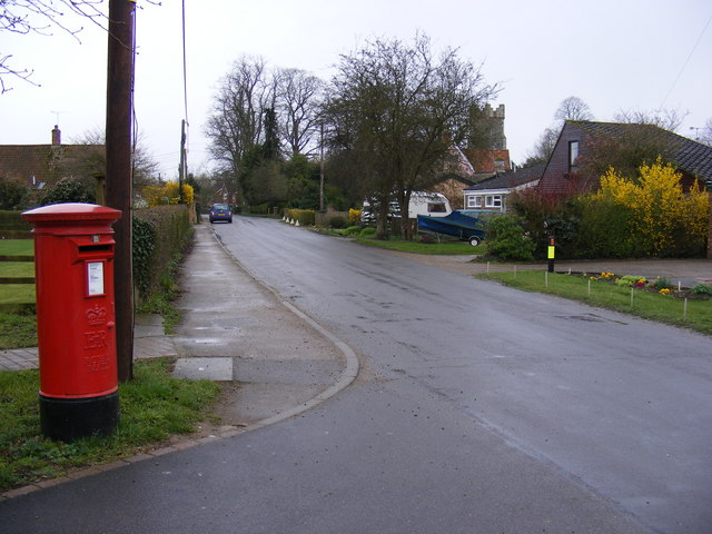 The Street & Woodbridge Road Postbox