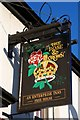 TL3677 : Sign for the Rose & Crown, Somersham by Tiger