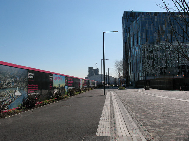 Road behind Ravensbourne College