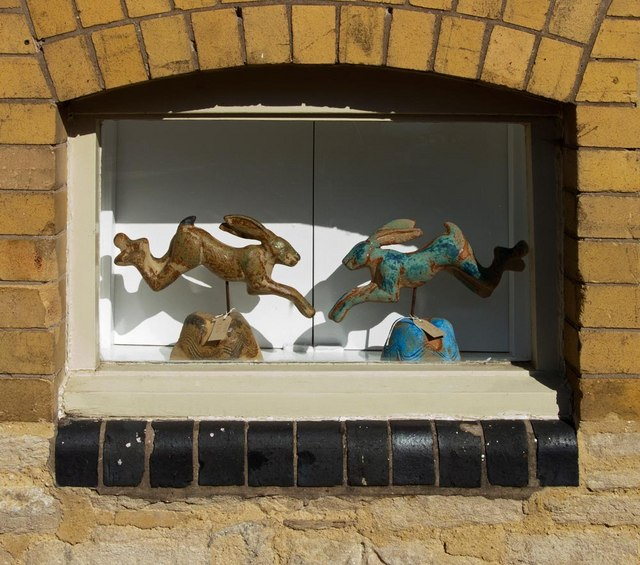 Window at the Brewery Arts Centre, Cirencester