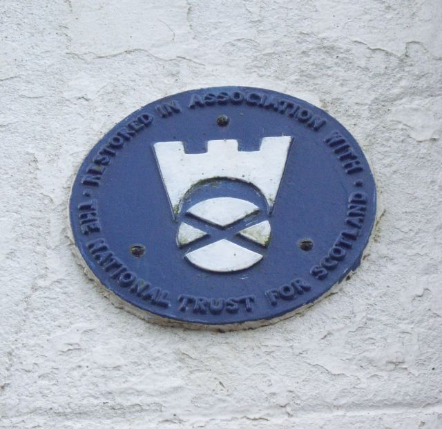 National Trust for Scotland small houses restoration plaque