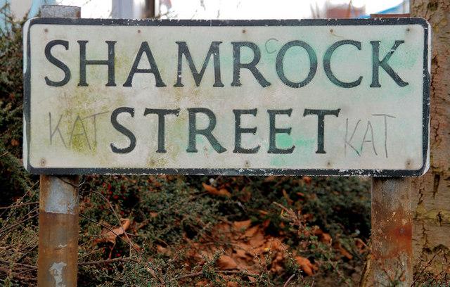 Shamrock Street sign, Belfast