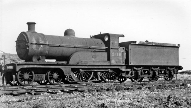 Withdrawn ex-Great Northern 4-4-0 dumped at Immingham Locomotive Depot