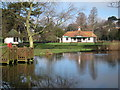 TQ8110 : Pond and Bowling Hut at Alexandra Park by Oast House Archive