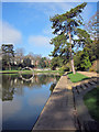 TQ8110 : Boating Lake at Alexandra Park by Oast House Archive
