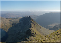 NY3415 : Down Striding Edge Panorama by Gareth Jones