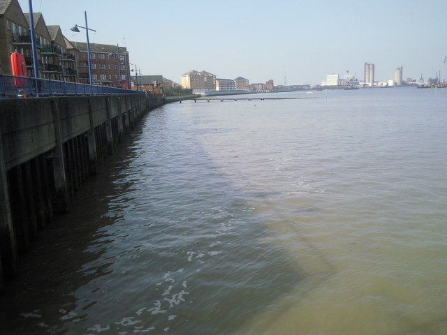 Thames riverside at Erith