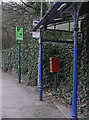 SK2957 : Bus stop and postbox, Masson Mills by Alan Murray-Rust