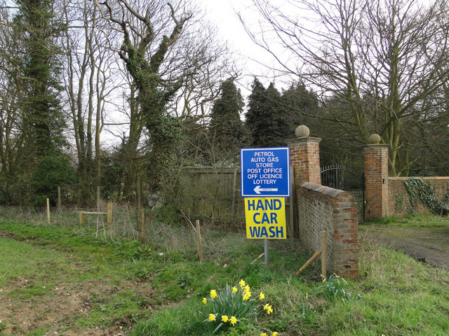 Information boards on the A140 near gated entrance