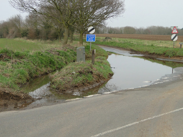 Flooded road near Brampton station