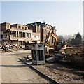 SK9871 : Lincoln County Hospital, Lincoln - Panorama 2 #1 of 2 by Dave Hitchborne