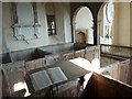 TQ1116 : Holy Sepulchre, Warminghurst: Bible by Basher Eyre