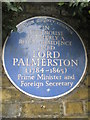 Photo of Henry John Temple Palmerston blue plaque