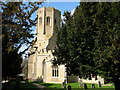 TL5663 : Swaffham Prior: the tower of St Cyriac and St Julitta by John Sutton