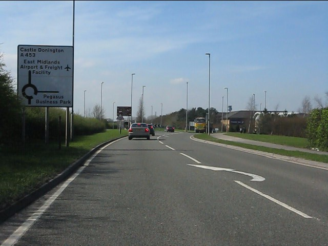 A453 approaching Pegasus Business Park