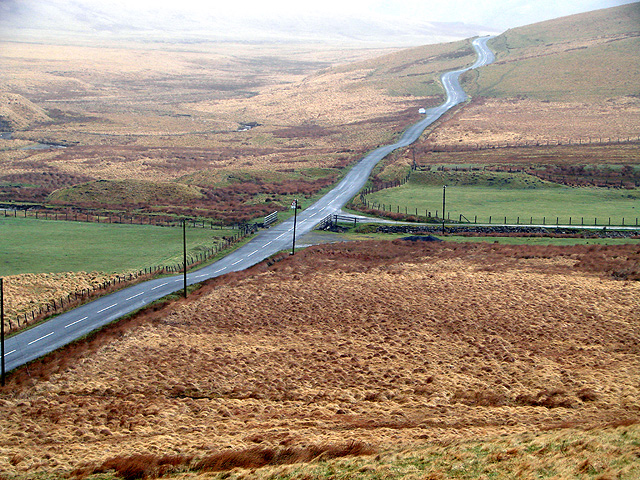 The mountain road from Rhayader to Cwm Ystwyth at Bodtalog