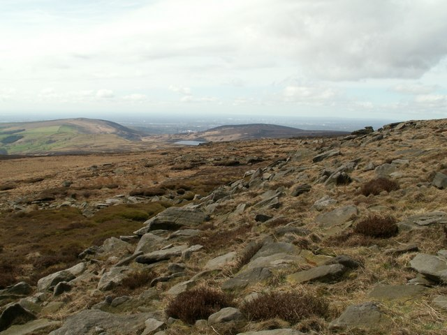 Mount Skip looking to Swineshaw Reservoir