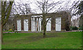 TQ3275 : Former portico, Ruskin Park by Stephen Richards