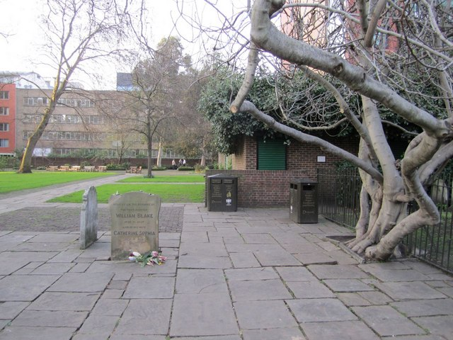 William Blake's gravestone (1), Bunhill Fields
