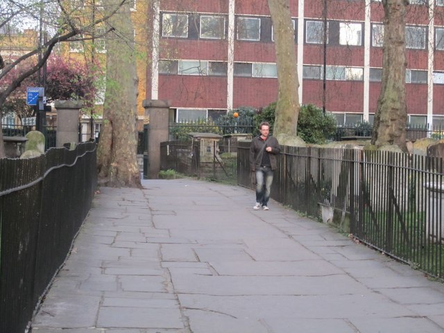 Path through Bunhill Fields Burial Ground