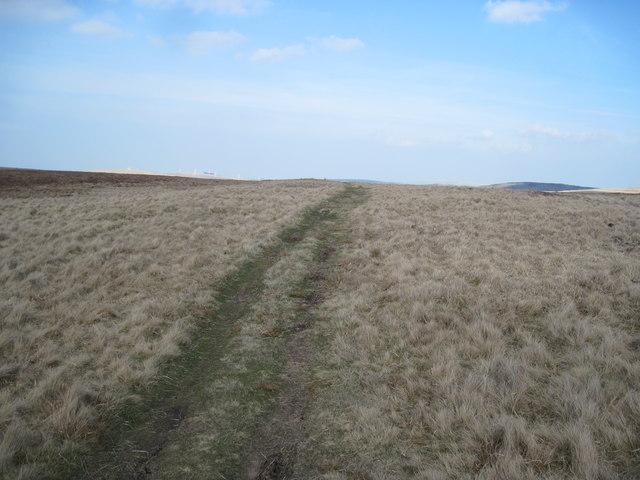 Moorland track above Craig Goch Reservoir
