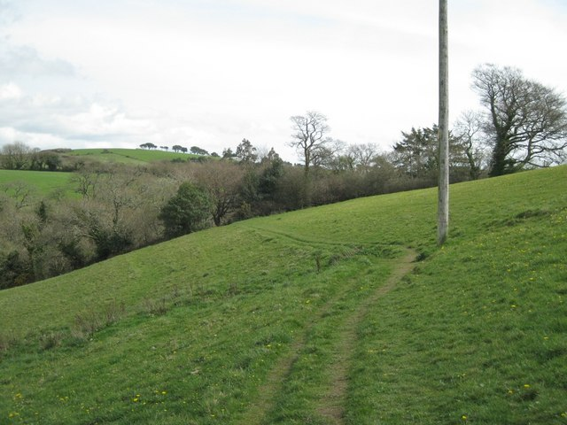 Path along a hillside