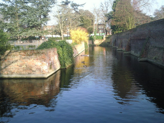 The moat at Well Hall Pleasaunce