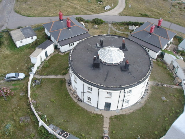 Dungeness - the Roundhouse from the Old Lighthouse