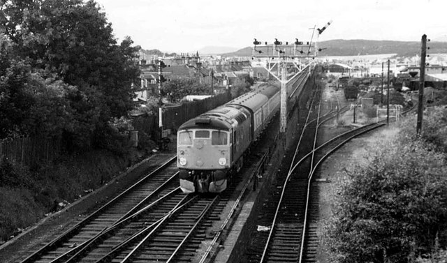 Approaching Inverness Station from the North, 1981