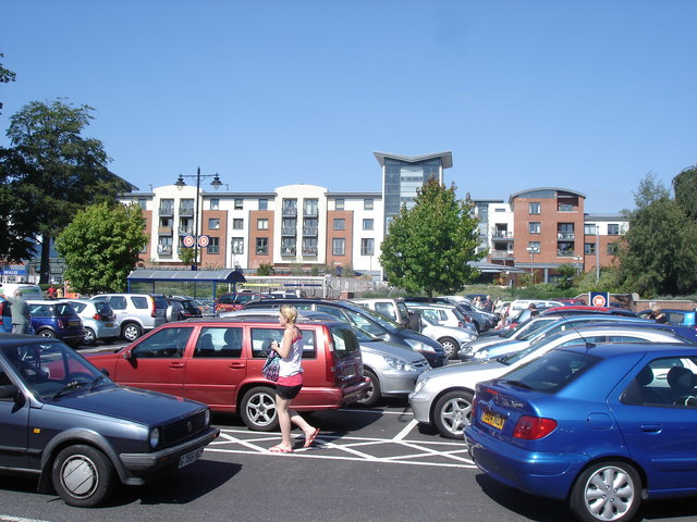 Horsham - new shops as seen from Sainsbury's car park