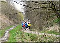 SJ9594 : Runners on the Trans Pennine Trail by Gerald England