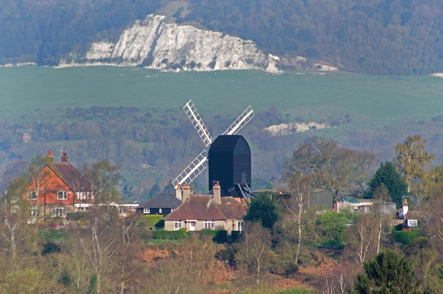 Reigate Heath Windmill in Spring