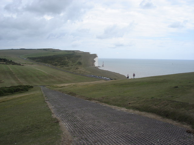 View towards Beachy Head from Belle Tout