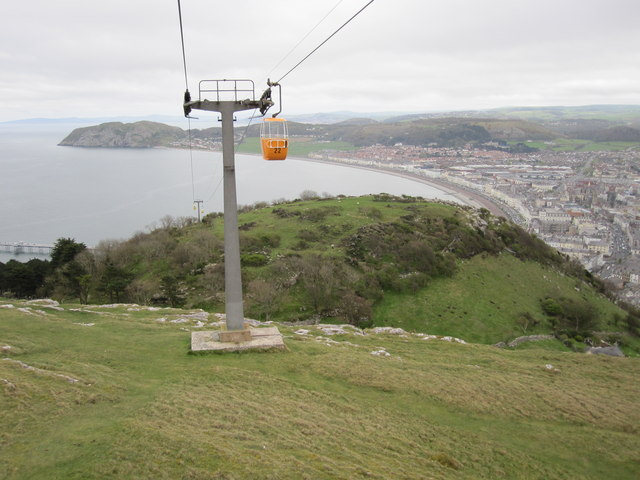 Llandudno Cable Car Heading Up The Alan Heardman